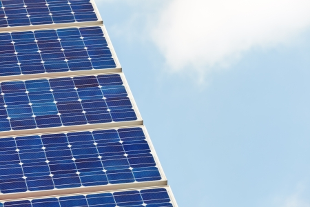 Detail of a solar panel against a blue sky Stock Photo - 13930088
