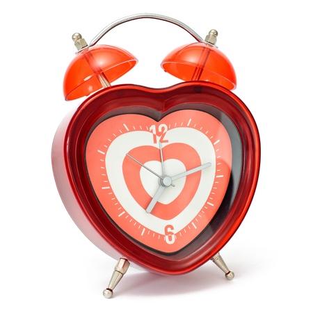alarmclock: Red heart shaped alarmclock