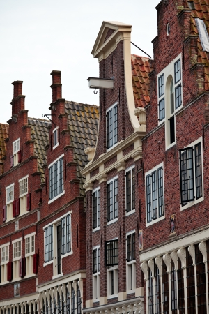 Historic canal houses in the Dutch historic town Hoorn Stock Photo - 14164277