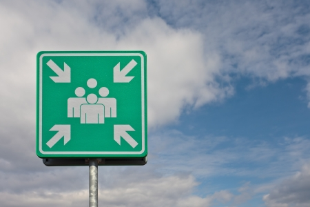 European industry sign where to meet in case of a emergency
