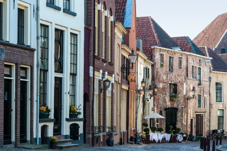 View at historic houses in the Dutch town Deventer photo