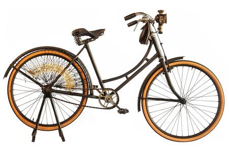 oxidado: Vintage principios del siglo XX holandés bicicleta señora con linterna Foto de archivo