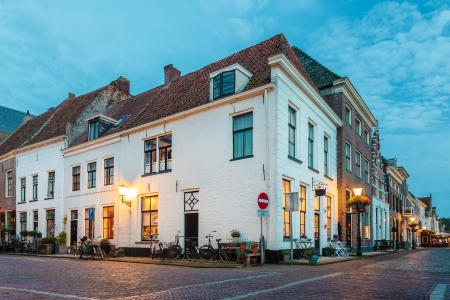 Evening view of the historic Dutch town Elburg in Gelderland Stock Photo - 16628267