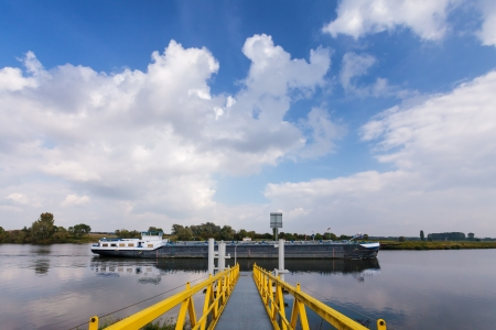 maas: Cargo riverboat in The Netherlands on the old Maas river