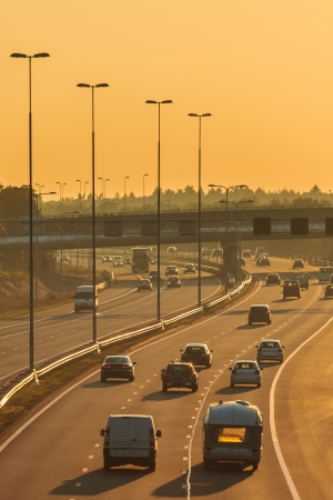 Highway in The Netherlands in the afternoon photo