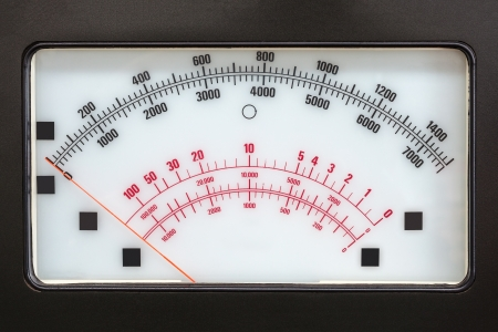 multimeter: Retro brown electric measurement system with analog scale