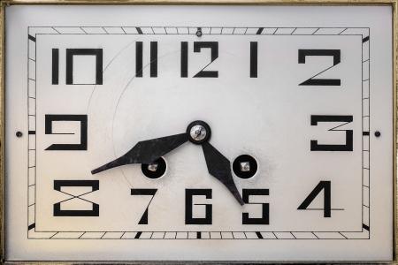 2nd century: Art deco design clockface from the early twentieth century
