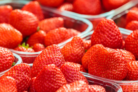 food package: Plastic boxed fresh strawberries