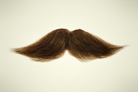bigote: Bigote rizado marr�n sobre un fondo sepia Foto de archivo