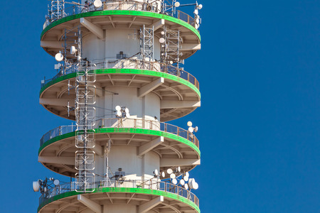 telecommunication tower: Detail of a large concrete telecommunication tower