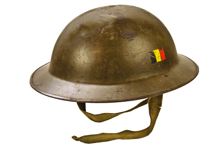 world war one: Genuine German World War One helmet isolated on a white background