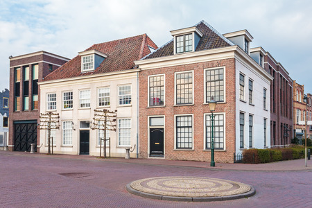 restored: Ancient restored city houses in Amersfoort, The Netherlands Stock Photo