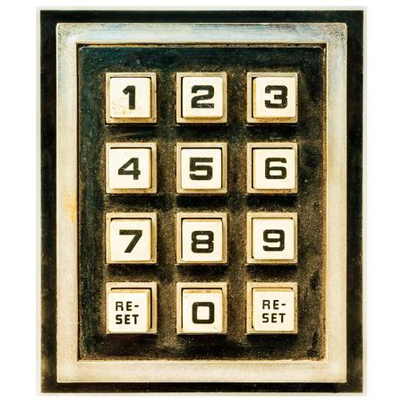 teclado numerico: Vendimia viejo teclado de rearme y los botones numéricos