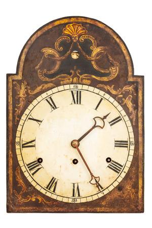 orologi antichi: Genuine ornamentale orologio XVII secolo isolato su uno sfondo bianco