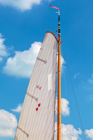 hearted: Classic sail with the two hearted Dutch provincial symbol of Frisia