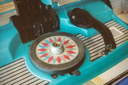 Retro styled image of a vintage jukebox