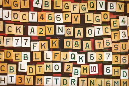 teclado num�rico: Colecci�n de letras y n�meros blancos botones de m�quina de discos de la nar y