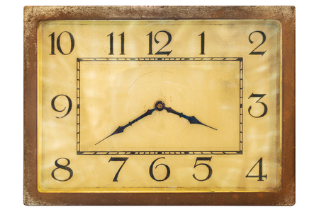 twentieth: Art deco clockface from the early twentieth century isolated on a white background