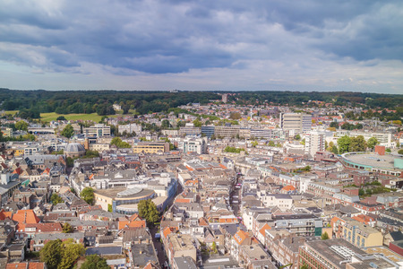 Aerial view of the Dutch city Arnhem Stock Photo