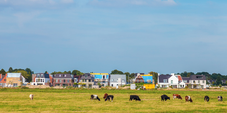 residence: Construction of new houses in the province of North Holland near Amsterdam, The Netherlands Stock Photo