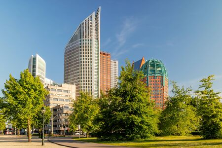 Contemporary office and government buildings in The Hague city center, The Netherlands