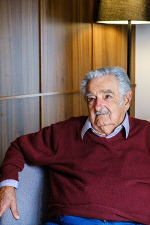 Valencia Spain 2 5 2020 Former Uruguayan President Jos 'Pepe' Mujica during an interview in Valencia Spain Editorial