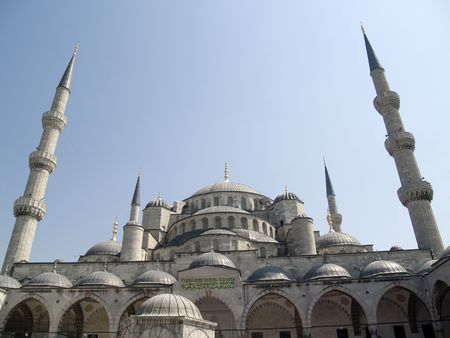 The blue mosque, the  most popular Mosque of estambul Stock Photo