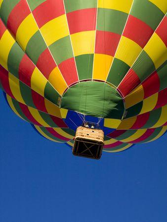 Hot air ballon in an exibicion.