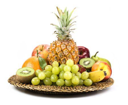 Basket of fruit isolated