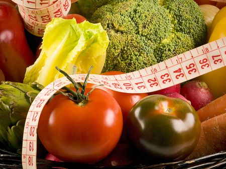 Selection of the most popular vegetables, a healthy diet Stock Photo