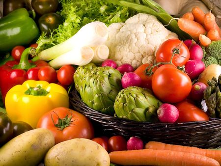 Selection of the most popular vegetables