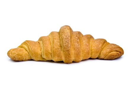 Croissant isolated on white. Stock Photo