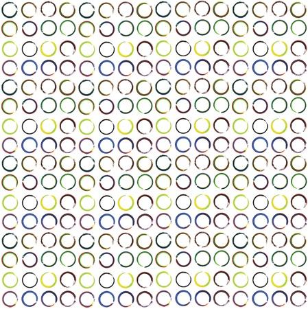 seamless paint circle on white background Stock Photo - 13435690