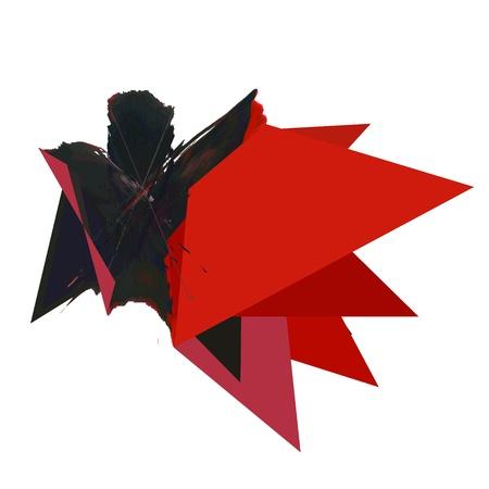 Triangle Abstract Paint illustration Stock Illustration - 13435685