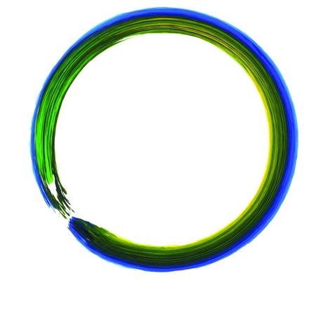 revolve: Colorful Circle Paint Line  Stock Photo
