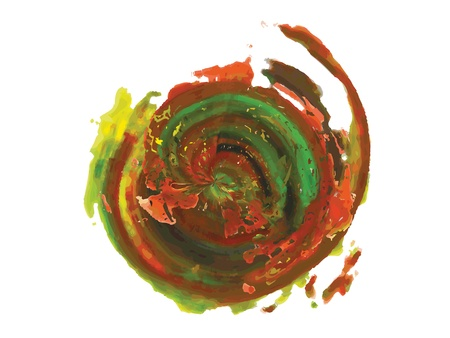 modernist: Paint Circle Abstract