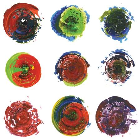modernism: Paint Circle Abstract Set