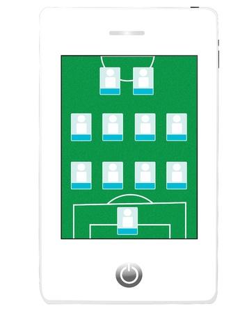 Soccer Field Screen on Smart Phone  photo