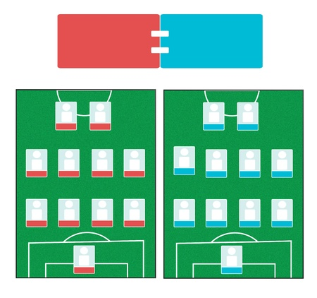 Soccer Field Screen with Score  photo