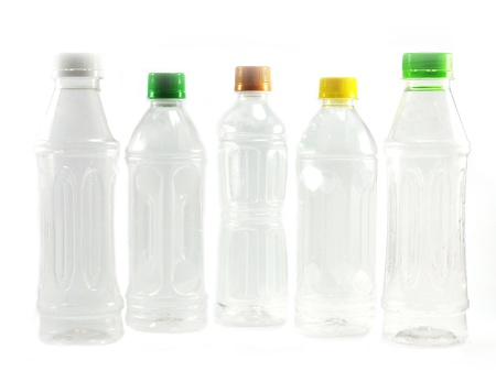 Used plastic bottles photo