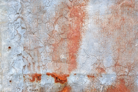 Grunge steel surface with red rust photo