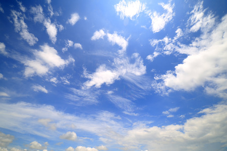 Cloudscape with Rainbow, Sky and Clouds Background