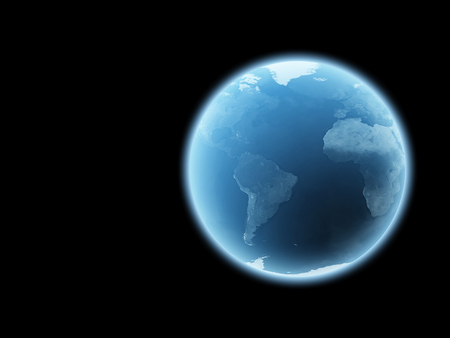 Earth Isolated on black background : Elements of this image furnished by NASA Stock Photo