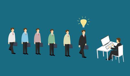 Business man apply for work . Business concept Isometric 3d design vector illustration