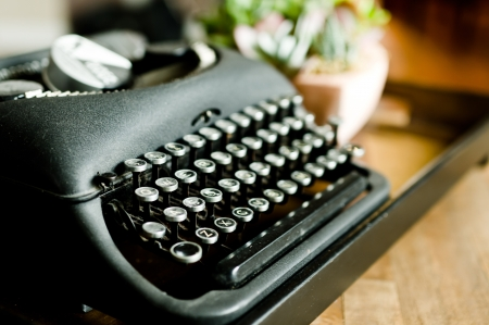 type writer: Beautiful coffee table prop at a friends house Stock Photo