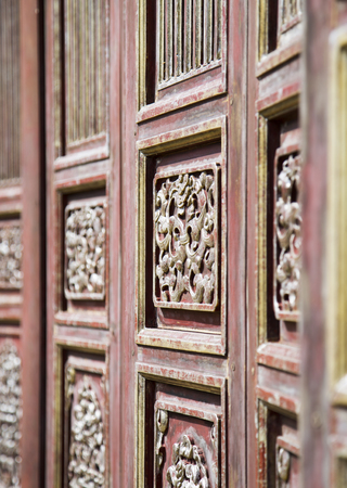 Close up of oriental pattern details on wooden door and windows in the Forbidden City of & Close Up Of Oriental Details On Wooden Door And Windows In The ...