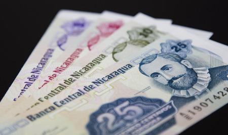 penury: Bank note of Nicaragua, Nicaraguan paper money Stock Photo