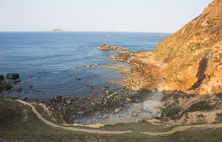 Wide view of Eo Gio ocean coast at Quy Nhon city, central of Vietnam