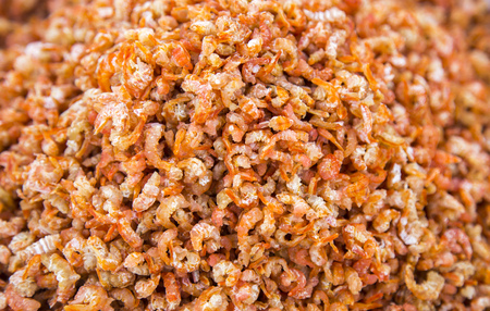 Dried shrimp real background
