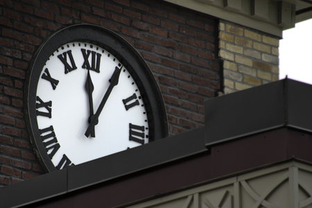Clock on a historic building in Seattle 写真素材